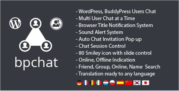Wordpress buddypress users chat plugin