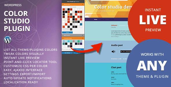 Color studio plugin wordpress pour tweak