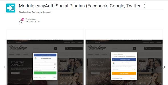 Easyauth pop social sign in popup facebook plugin prestashop pour authentification