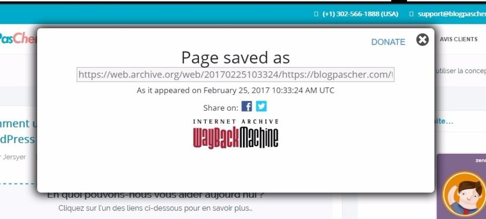 Enregistrement des archives blogpascher