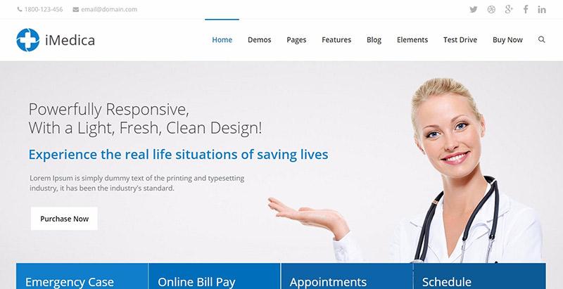 Imedica themes wordpress creer site web clinique hopital centre sante dispensaire