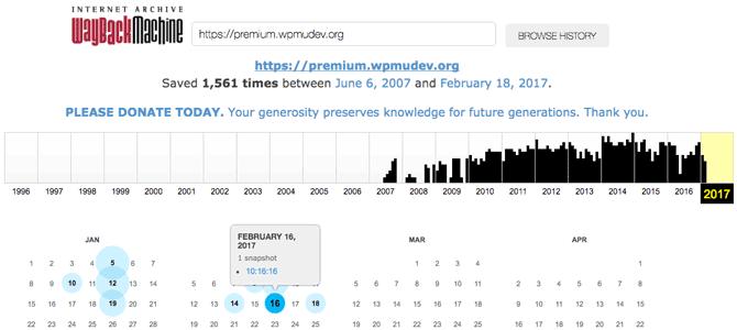 Indexation des articles archives wayback machine