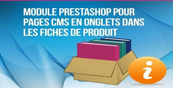 Information pages cms in product tab plugin prestashop pour fiche produit