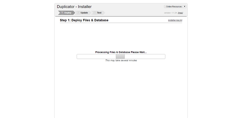 Installation de duplication wordpress