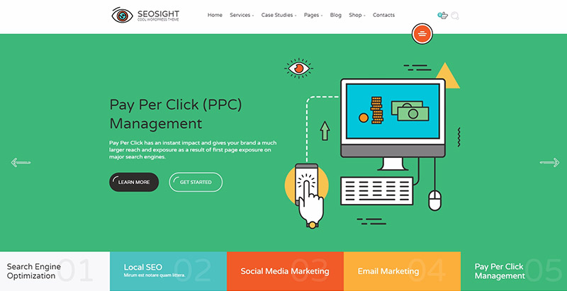 Seosight themes wordpress creer site web optimise referencement marketing seo