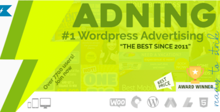 Adning advertising plugin wordpress