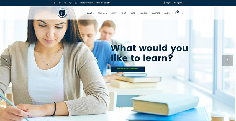Campress themes wordpress pour creer un site web educatif elearning formation