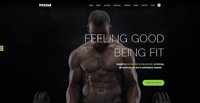 Fitfab themes wordpress creer site web club fitness salle gym