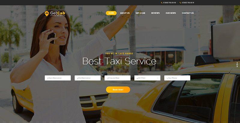 Temas de WordPress para crear un sitio web de la compañía de taxis ...