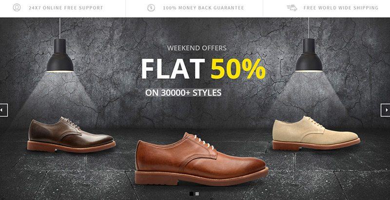 Glory shop themes wordpress creer site ecommerce vente chaussures