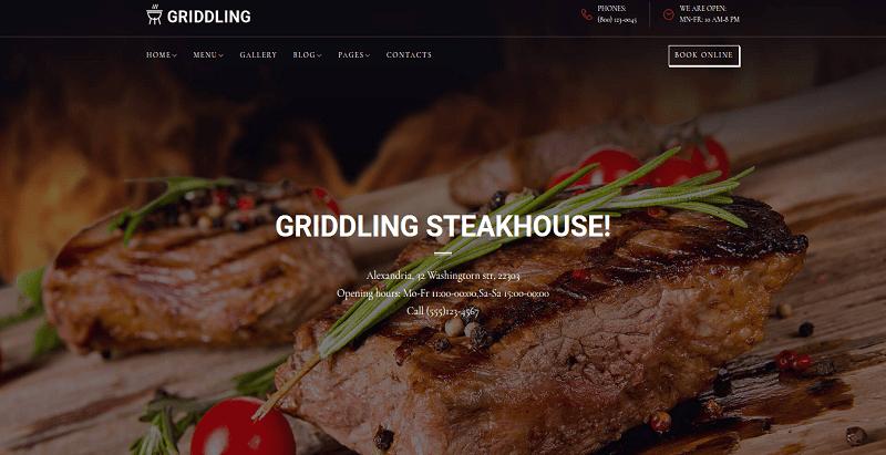 Griddling themes wordpress creer site web boucher