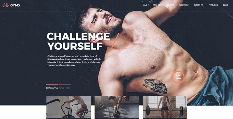 Gymx themes wordpress creer site web club fitness salle gym