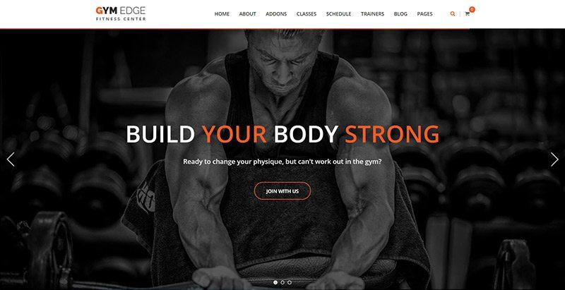 Gymedge themes wordpress creer site web club fitness salle gym