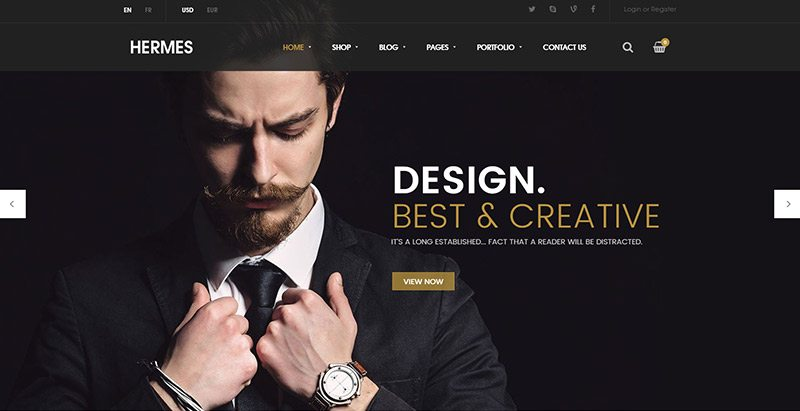 Hermes themes wordpress creer site web vente vetements ecommerce