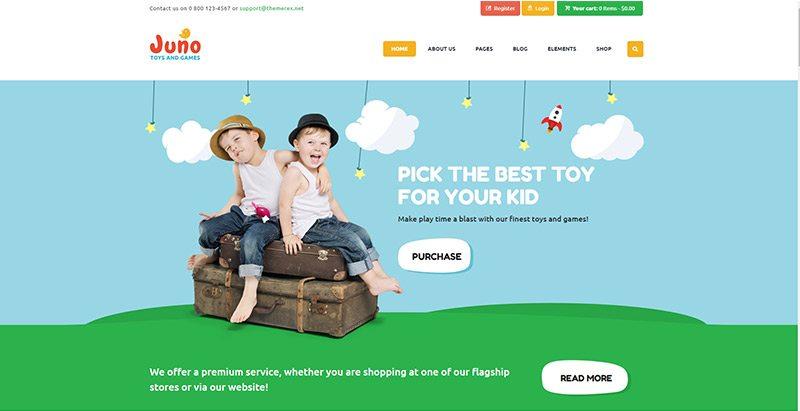 Temas de WordPress para vender ropa para niños | BlogPasCher