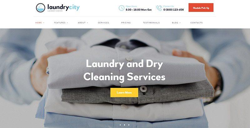 créer un site Web de blanchisseur - Laundry city