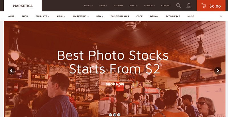 Marketica Themes Wordpress Creer Site Marketplace Ecommerce