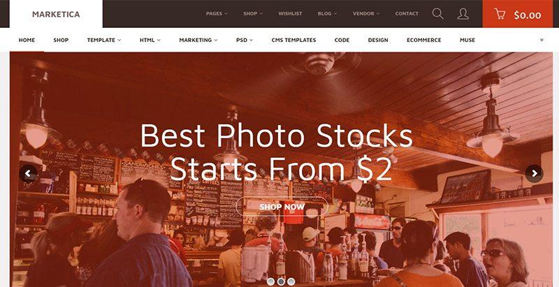 Marketica themes wordpress creer site marketplace ecommerce