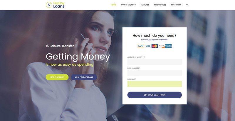 Payday loans themes wordpress creer site web societe assurance assureur