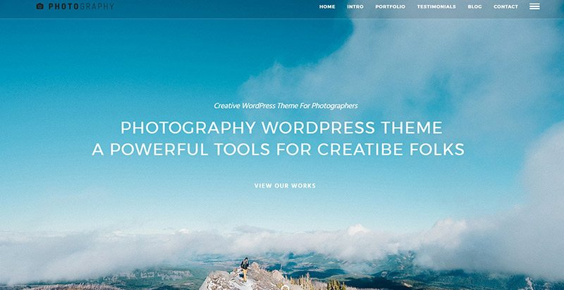 Photography themes wordpress creer site web photographies studio photos