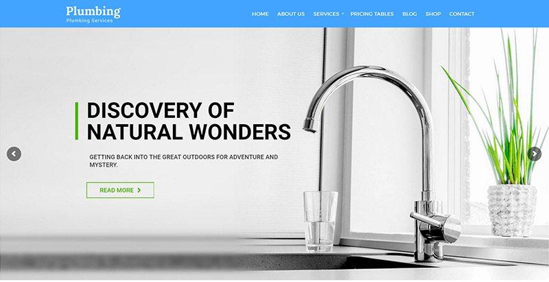 Plumbing 2 themes wordpress creer site web plombier plomberie