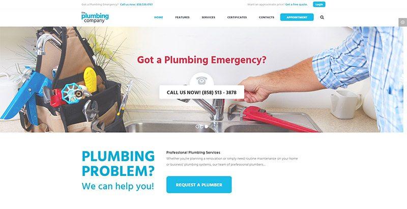 Plumbing themes wordpress creer site web plombier plomberie