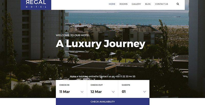 10 Wordpress-Themes eine Hotel-Website erstellen | BlogPasCher