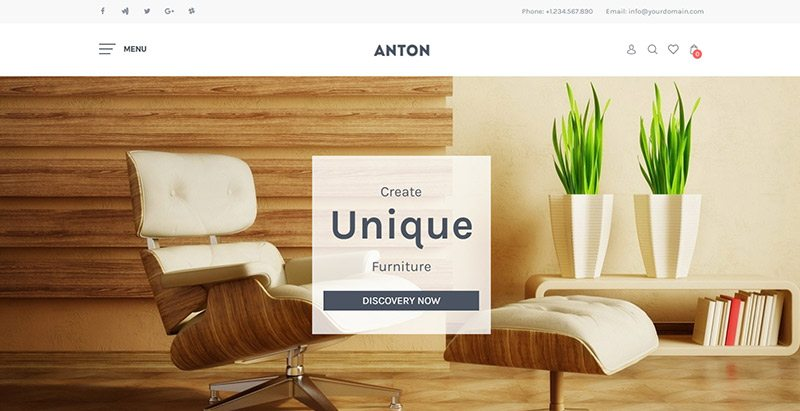 Sns anton themes wordpress creer site vente de meubles ecommerce