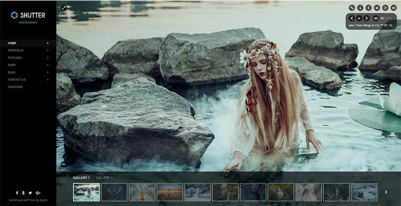 Shutter themes wordpress creer site web photographe agence