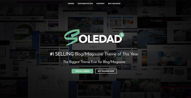 Soledad themes wordpress populaires creer site web