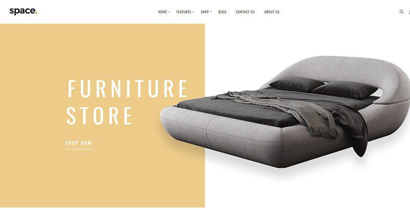 créer un site web de vente de meubles - Space