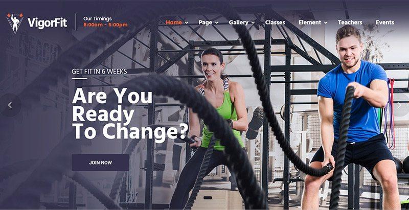 Temas de WordPress página web del club de gimnasio o idoneidad ...