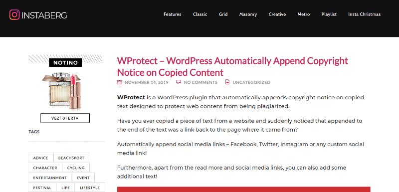 Wprotect pour copyright