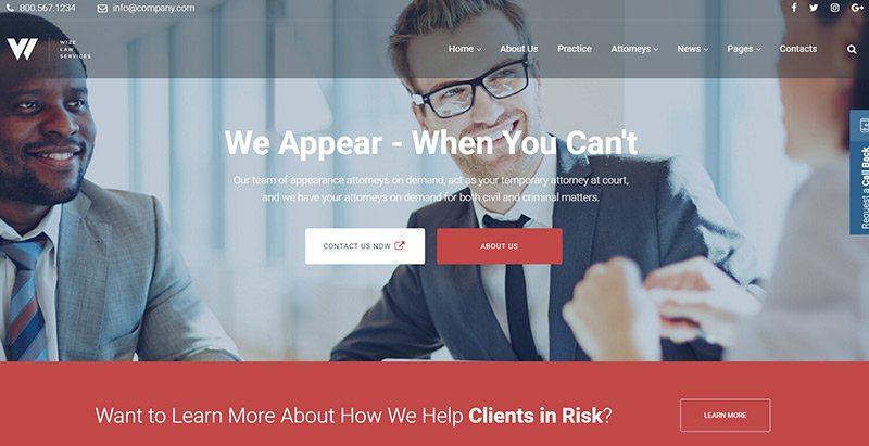 Wizelaw темы wordpress создать сайт фирма юристы нотариус поверенный