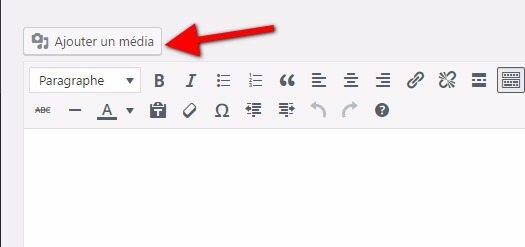 Ajouter des médias dans WordPress