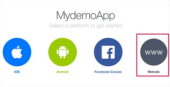 Choisir site web comme une plateforme facebook