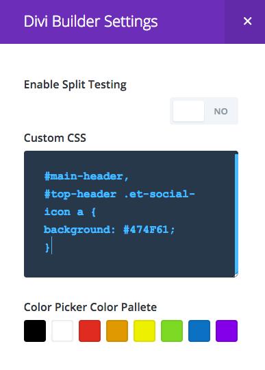 Как изменить цвет меню в wordpress