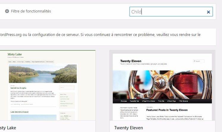 Comment rechercher un thème wordpress