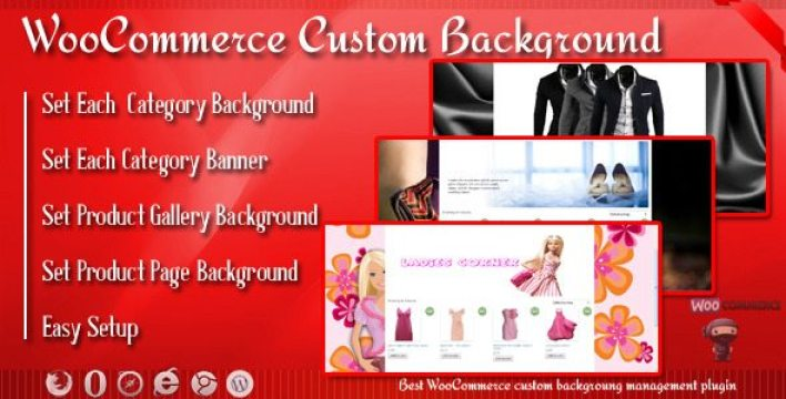 Custom background banner plugin wordpress pour arrière plan