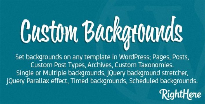 Custom background for wordpress plugin wordpress pour arrière plan