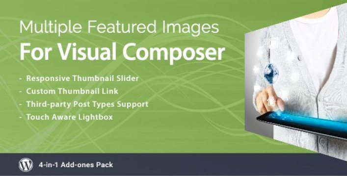 Multiple featured images vc plugin wordpress pour miniatures