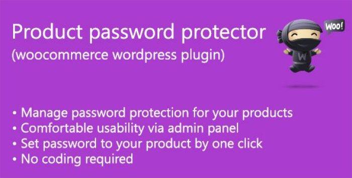 Product password protector plugin wordpress pour sécurité