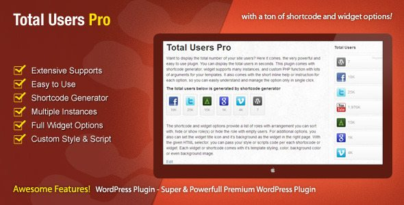 Total users pro plugin wordpress pour digg