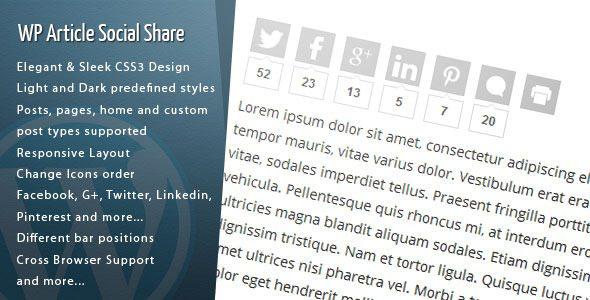 Wp article social share plugin wordpress pour digg
