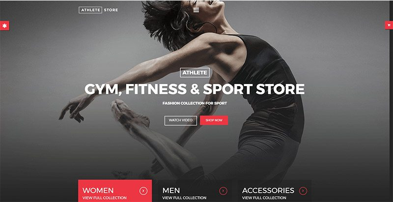 Athlete themes wordpress site web club fitness gym