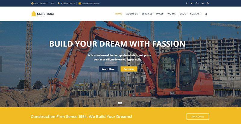 Themes Wordpress Pour Site Web D Entreprise De Construction