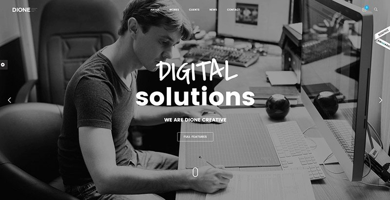 Dione themes wordpress creer site web entreprise construction agence
