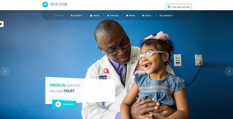 Doctor themes wordpress creer site web etablissement sanitaire hopital clinique