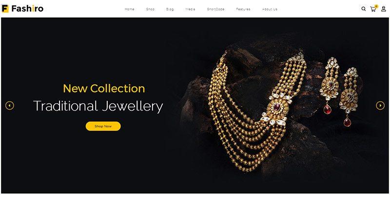 Fashiro shop themes wordpress creer boutique ligne site ecommerce marketplace