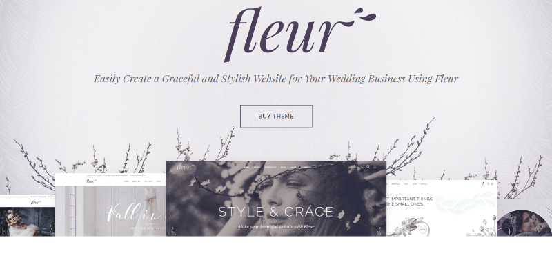Fleur themes wordpress creer site web ceremonie mariage evenement